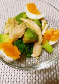 ブロッコリーと茹で卵のレモン風味サラダ