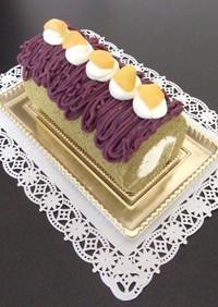 抹茶と紫芋のロールケーキ