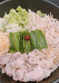 野菜たっぷり、豚バラの塩にんにく蒸し鍋!