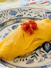 とろりんチーズ入りオムキムチライスの写真