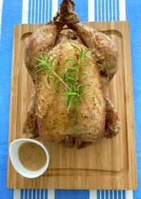 我が家のジューシー丸鶏ローストチキン
