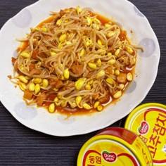 チンして混ぜるだけ!韓国ツナ&大豆モヤシ
