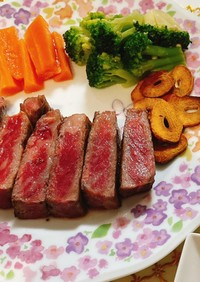 超簡単♡プロ並みのステーキの焼き方