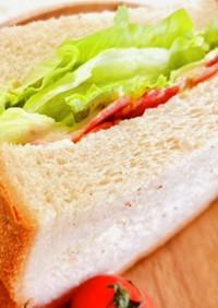 ベーコンレタスバーガー風♡サンドイッチ♡