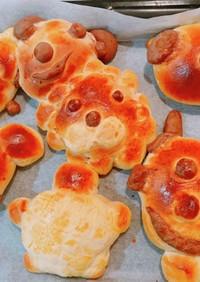 ☆HBで子供と作る動物パン☆