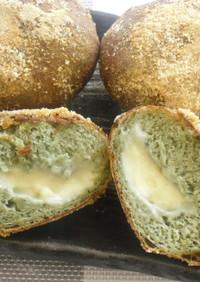 揚げパン (捏ねないパンから作る)