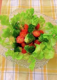 ミニトマトとブロッコリーのサラダ