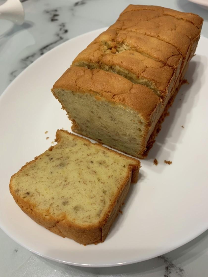 米粉とココナッツオイルでバナナケーキ
