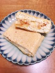 とちお油揚げのキム納豆チーズはさみ焼きの写真