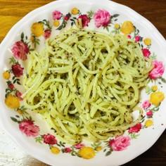 サラダスパゲティにゆかり麺つゆマヨネーズ