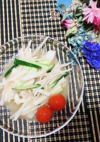 大根、山芋、きゅうりの明太子サラダ