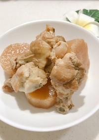 【簡単】手羽元と大根の味ポン酢煮