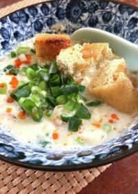 朝に食べたい!台湾風豆乳スープ 豆腐入り