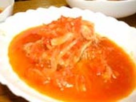 トマトスープ(キャベツと豚肉の重ね煮こみ)