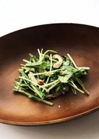 水菜とちくわの塩昆布マヨサラダ