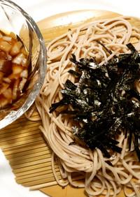 ざる蕎麦 発酵玉葱の蕎麦つゆ