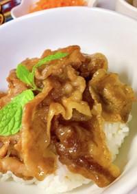 ハチミツ醤油トンテキ風◉豚バラ丼