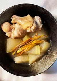 むくみ改善薬膳★冬瓜と鶏肉の塩麹煮