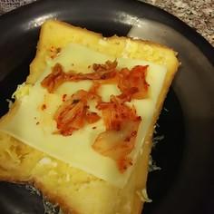 卵チーズキムチトースト