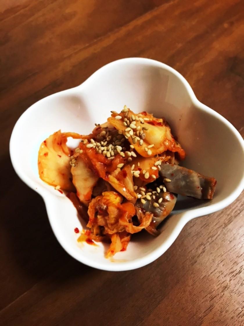 砂肝とキムチの炒めもの♪