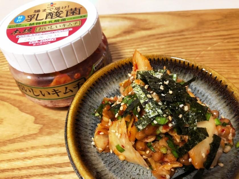 パパッと1品☆キムチニラ納豆