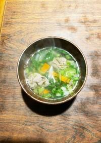 レタス&豚肩ロースで野菜コンソメスープ