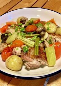 ストウブ  ダッチオーブン 簡単鶏肉料理