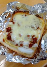 大豆ミートで簡単とろーりミートソースピザ