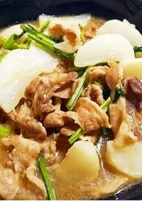 豚肉とかぶのオイスター炒め煮