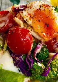 解凍するだけ!ほぐし蒸し鶏の野菜サラダ