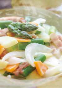 旬野菜のクリーム煮