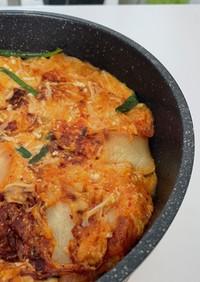 キムチと豆腐のもちもち焼き