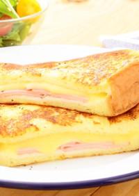切れてるチーズでとろ~りフレンチトースト