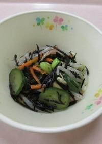★新発田市保育園給食★ひじきと豆のサラダ
