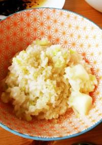 白アスパラとパルメザンチーズでリゾット☆