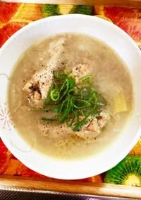 ダシ不要!サムゲタン②土鍋で深味スープ