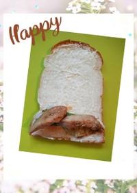 息子軽食鶏胸肉甘辛炒めロールサンド15