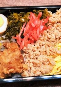 高菜と親子弁当 0526