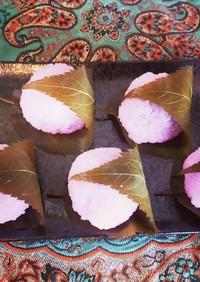 ♬一口サイズ基本の桜餅♬