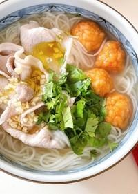 タイの屋台風汁麺