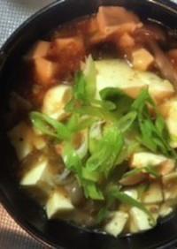 麻婆豆腐の素を使ったしめじ入り麻婆豆腐