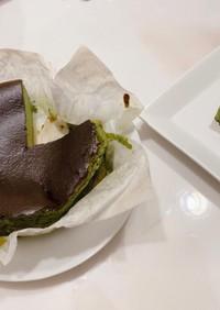 超簡単♡抹茶バスクチーズケーキ