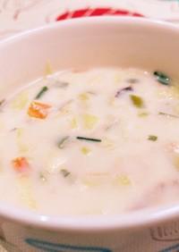 簡単!即席アーモンドミルクのスープ