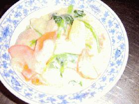 豆乳でまろやか鮭クリームシチュー☆