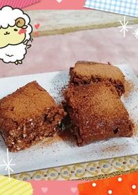 マクロビ☆オートミールの生チョコ風ケーキ