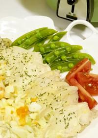 ◤電鍋レシピ◢鶏肉のレムラードソース添え