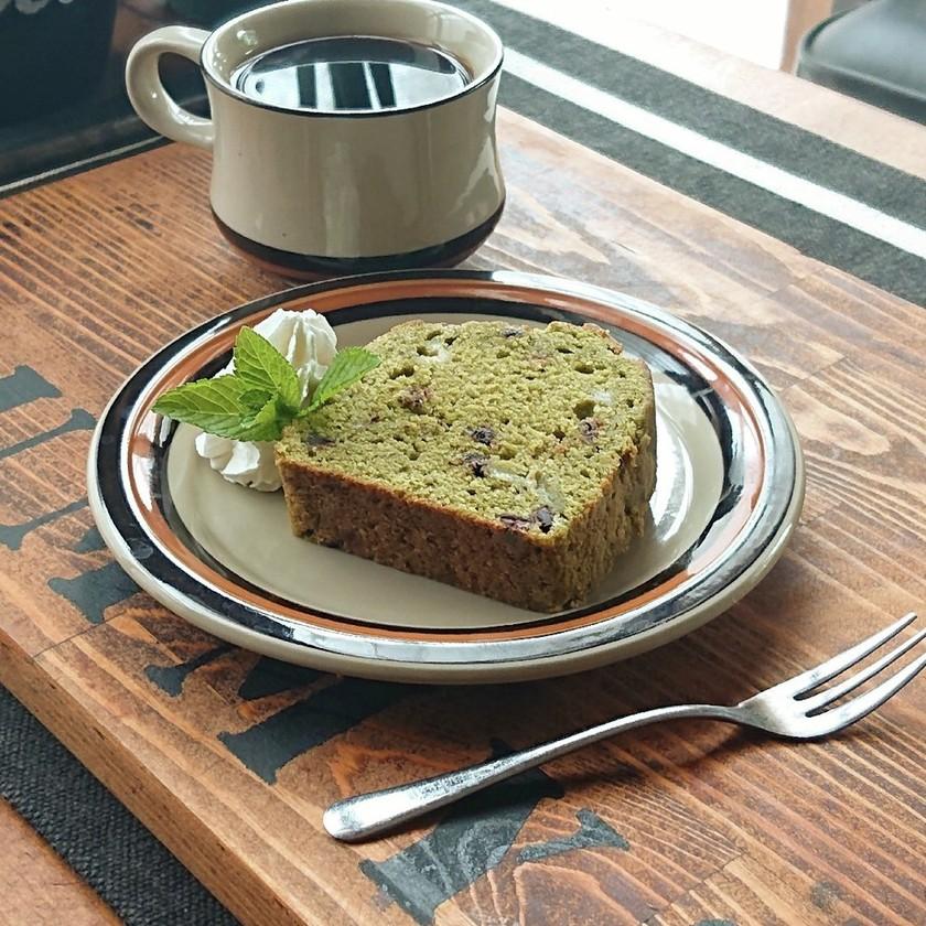 おうちカフェ★抹茶バナナのパウンドケーキ