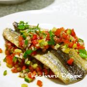 カリっと☆秋刀魚ソテー ラビゴットソース