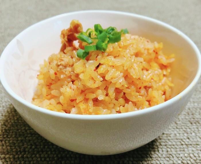 糖質+ビタミンB1 玄米入り豚キムチご飯