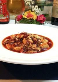 花椒と追い辣油の旨辛四川麻辣豆腐